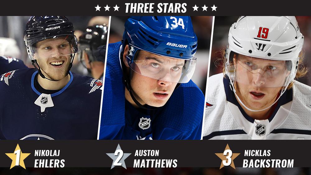 Stars of the Week, Ehlers, Matthews, Backstrom