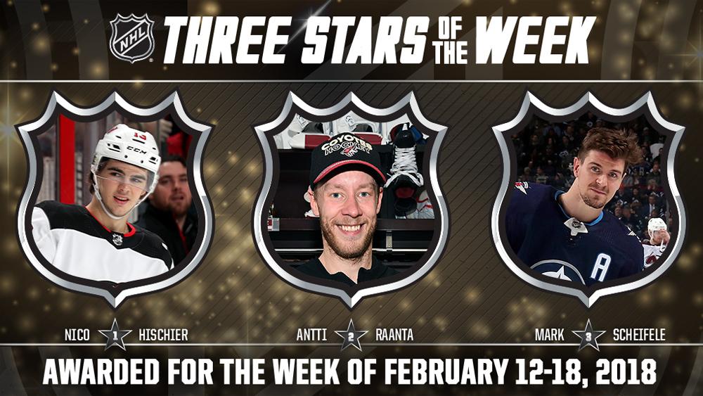 Stars of the Week, Hischier, Raanta, Scheifele
