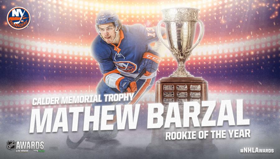 Calder Memorial Trophy, Mathew Barzal