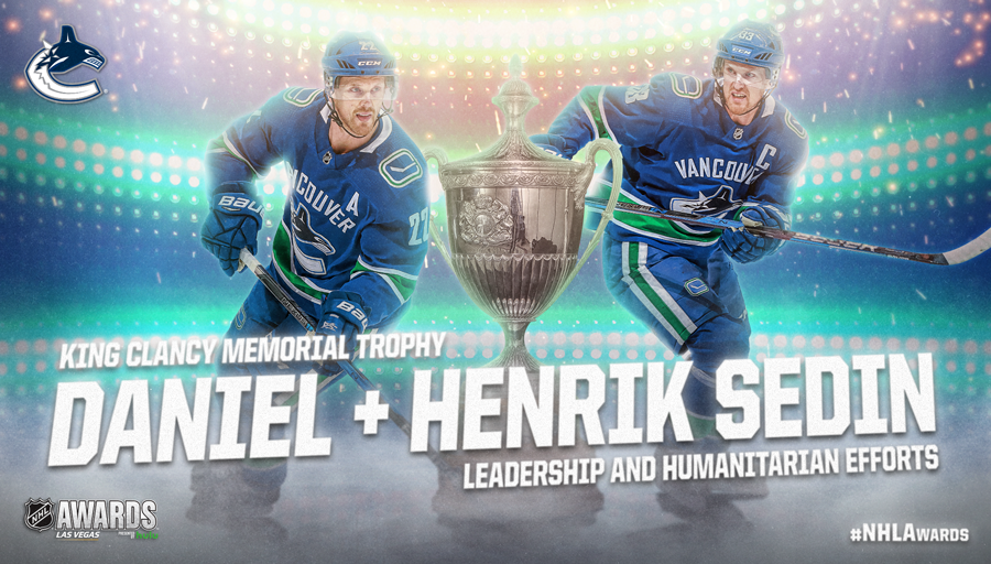 King Clancy Memorial Trophy, Daniel Sedin, Henrik Sedin
