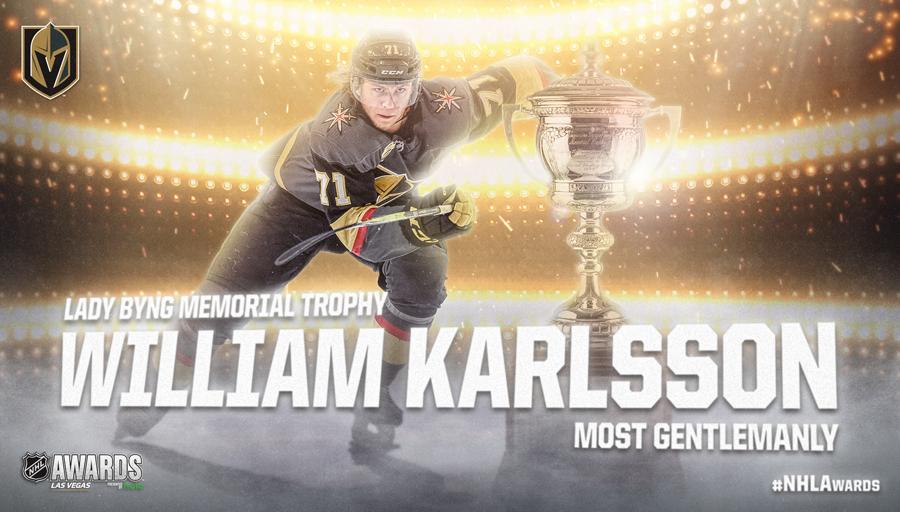 Lady Byng Memorial Trophy, William Karlsson