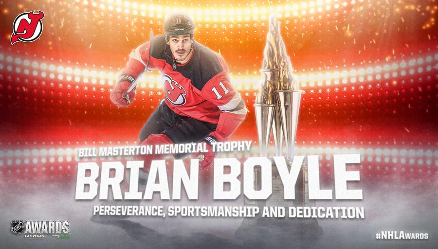 Bill Masterton Memorial Trophy, Brian Boyle