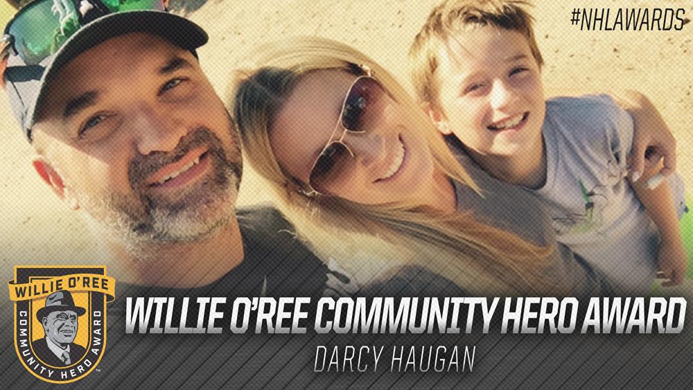 Willie O'Ree Community Hero Award, Darcy Haugan
