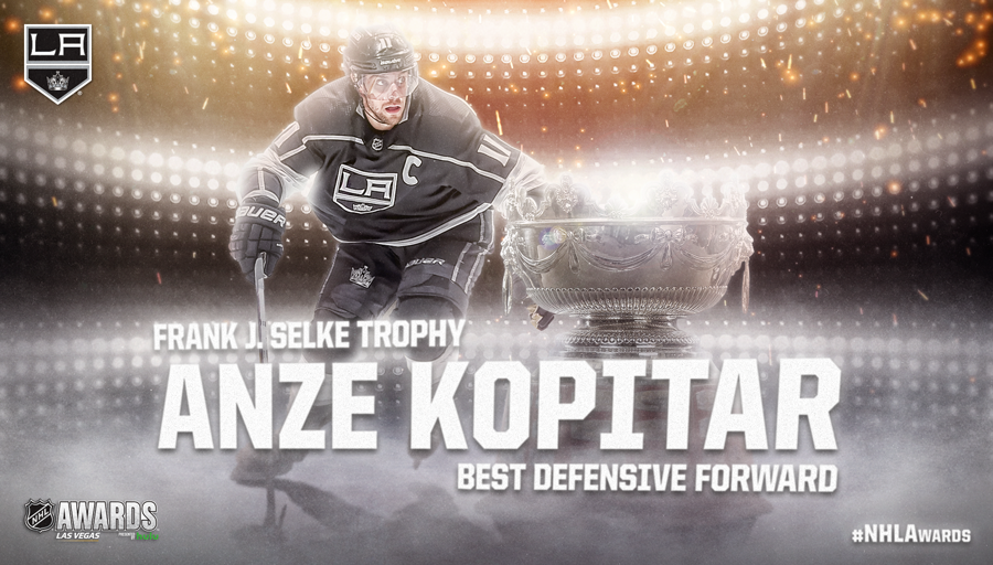 Frank J. Selke Trophy, Anze Kopitar
