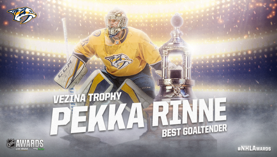 Vezina Trophy, Pekka Rinne