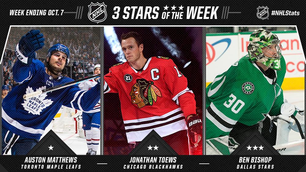 Stars of the Week, Matthews, Toews, Bishop