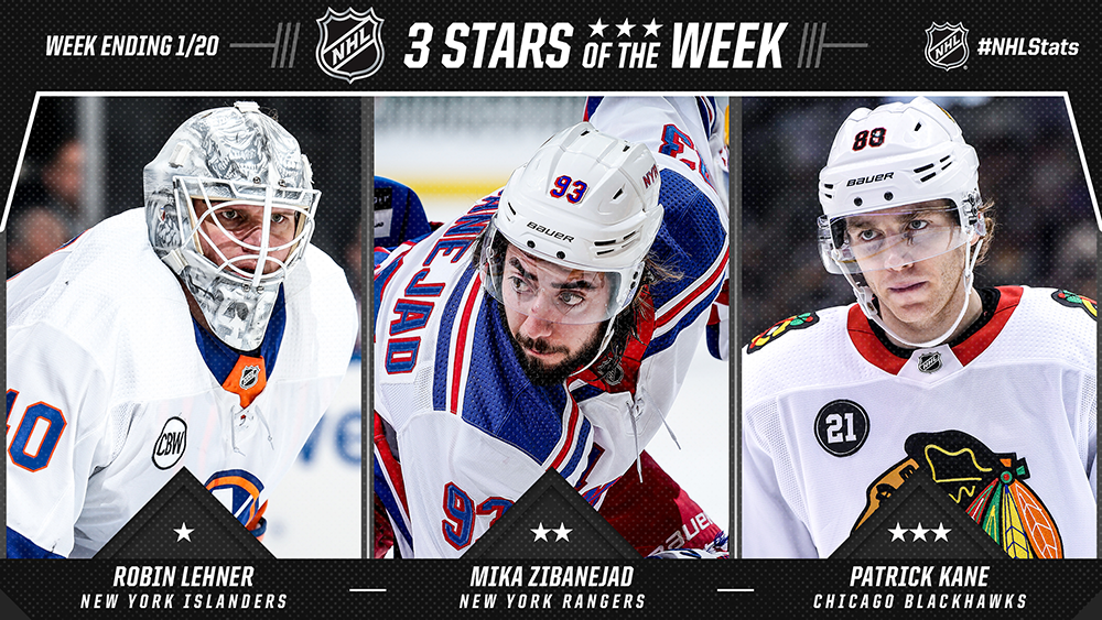 Stars of the Week, Lehner, Zibanejad, Kane