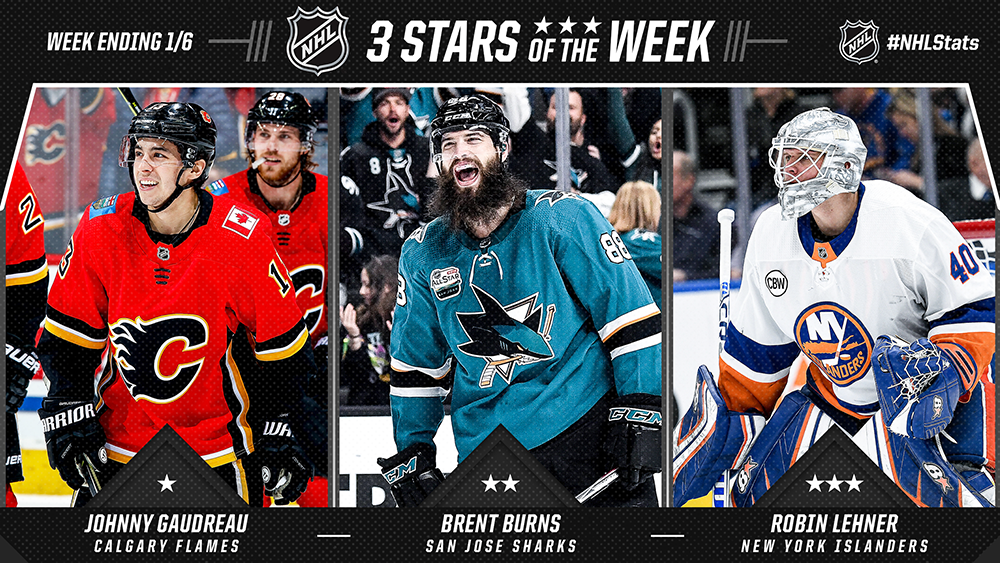 Stars of the Week, Gaudreau, Burns, Lehner
