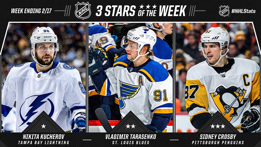 Stars of the Week, Kucherov, Tarasenko, Crosby