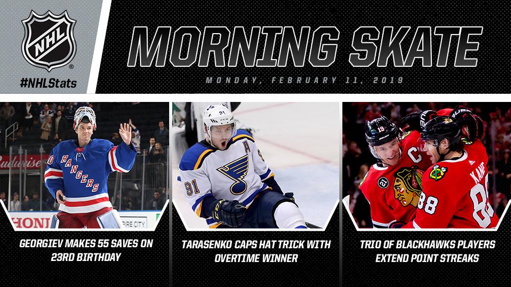 NHL Morning Skate – Feb. 11, 2019