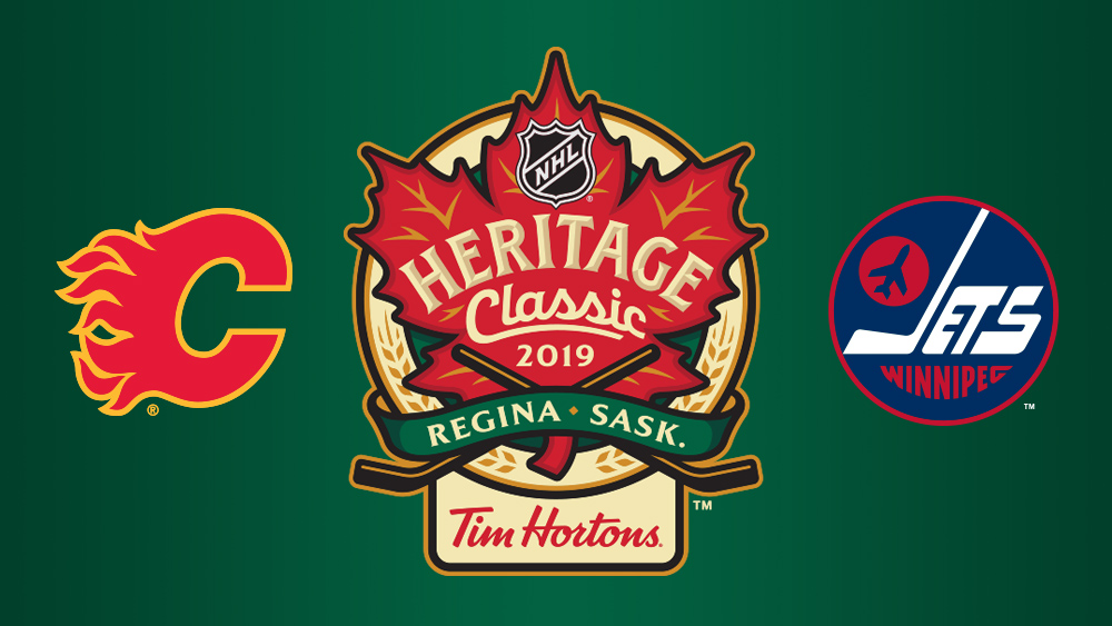 NHL Heritage Classic Flames Jets Regina By the Numbers