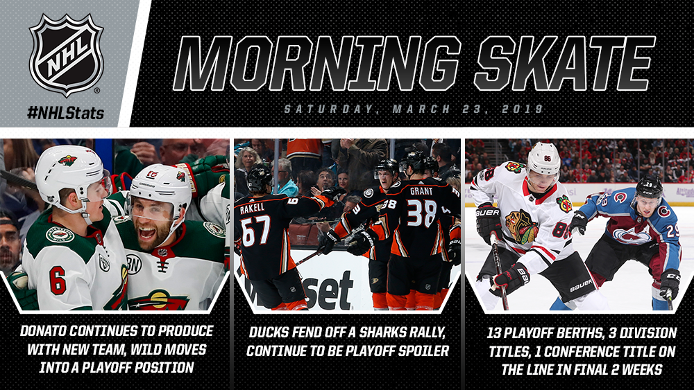 NHL Morning Skate – March 23, 2019
