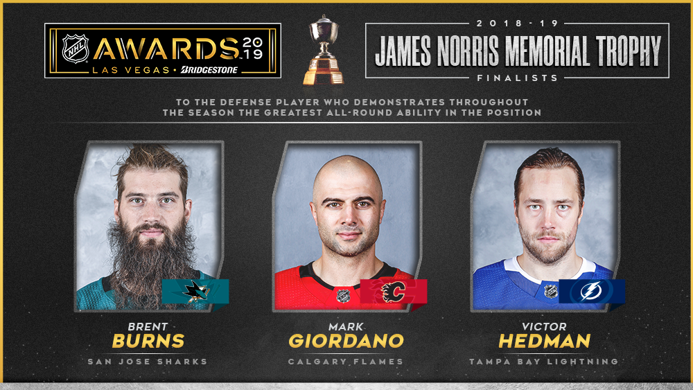 Norris Trophy, Burns, Giordano, Hedman