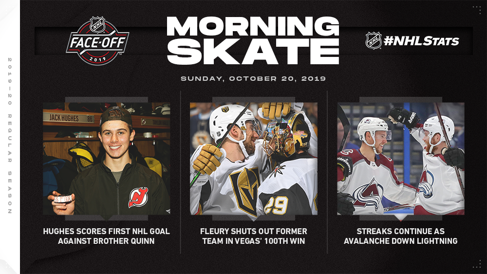NHL Morning Skate — Oct. 20, 2019