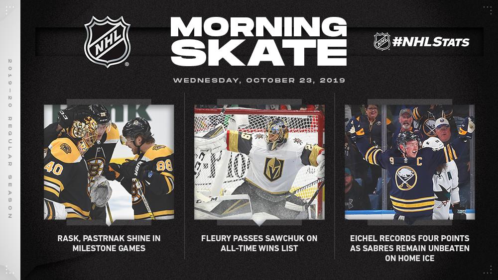 NHL Morning Skate — Oct. 23, 2019