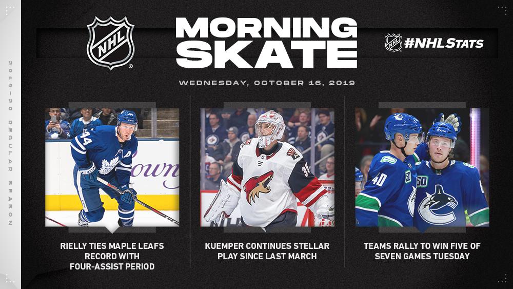 NHL Morning Skate – Oct. 16, 2019