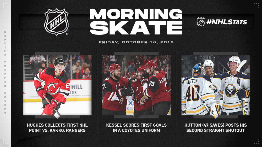 NHL Morning Skate — Oct. 18, 2019