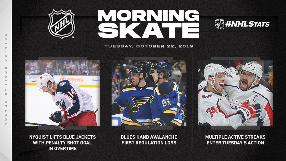 NHL Morning Skate — Oct. 22, 2019