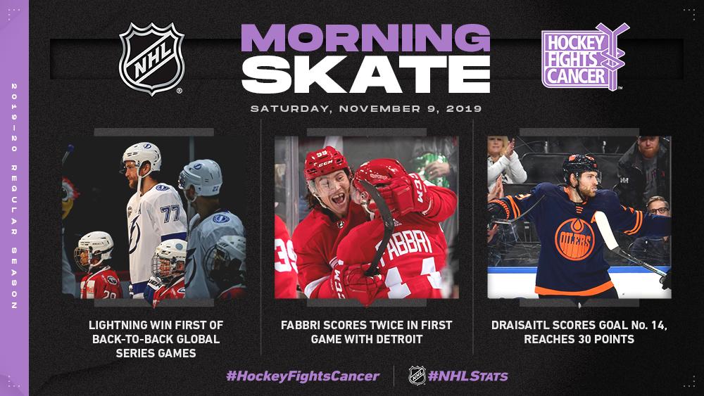 NHL Morning Skate — Nov. 9, 2019