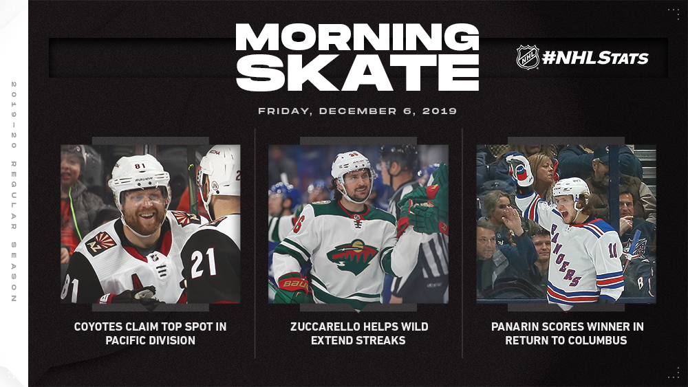 NHL Morning Skate – Dec. 6, 2019