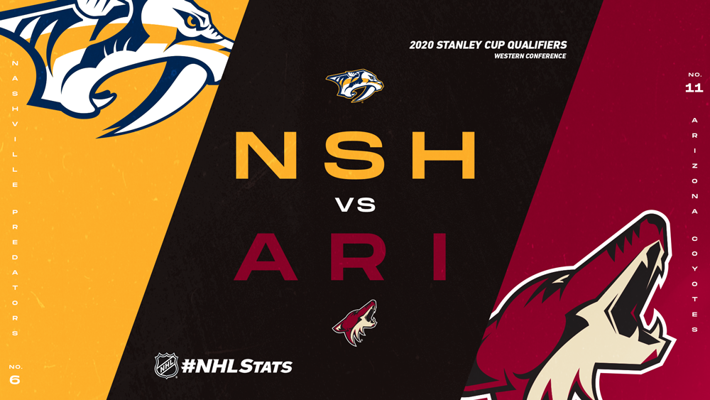 #NHLStats Pack: 2020 Stanley Cup Qualifiers – Nashville Predators vs. Arizona Coyotes